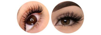 extensiones de pestañas en ojos